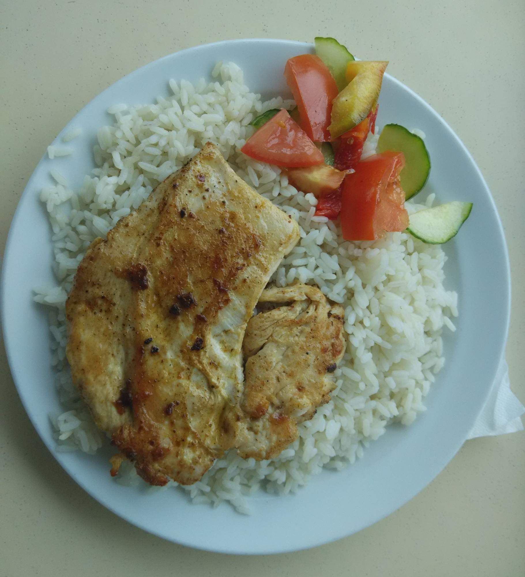 Kuřecí steak s rýží