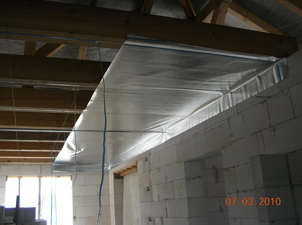 Parozábrana na strop