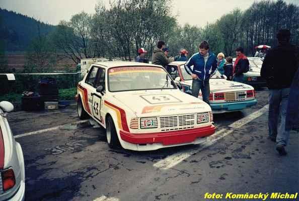 (43) ČERNÝ Miroslav - JZD Dobroměřice - Škoda 130 L (27) JUPA Jiří - Družec - Škoda 130 L