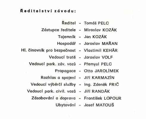 ředitelství ZAV Vyskeř 1990