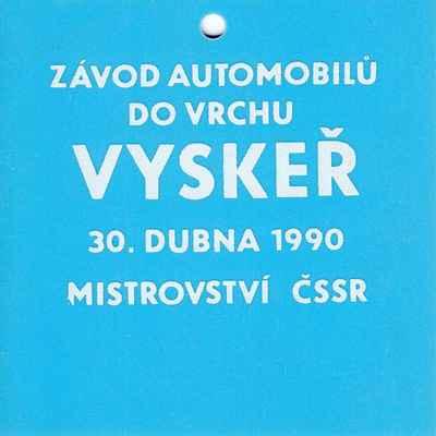 označení pro jezdce a mechaniky - ZAV Vyskeř 1990