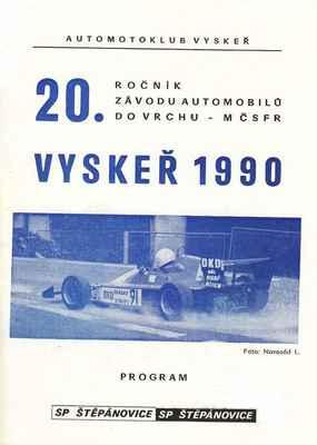 program ZAV Vyskeř 1990
