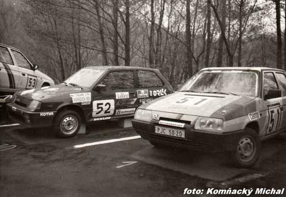 (53) ŠLAJCHRT Václav - TOS Hostivař - Škoda 136 (52) KOLAŔÍK Tomáš - (soutěžící) Matějovský Stanislav - Suzuki SWIFT GTi (51) LIŠKA Milan - (soutěžící) Liška Milan - Škoda 136