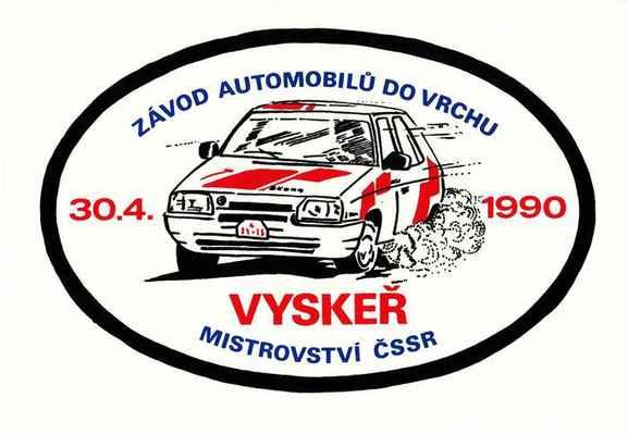 samolepka ZAV Vyskeř 1990