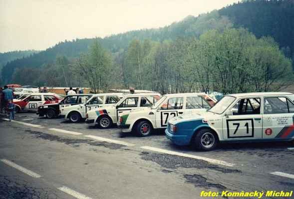 zleva:  (25) HEŘMÁNEK Jan - JH Motorsport - Lada Samara (71) ŠIML Jindřich - AUTOSPRINT Plasy - Škoda 120 LS