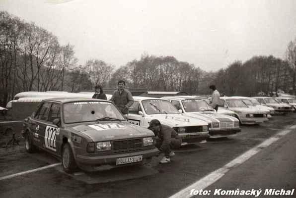 (122) JENŠÍK William - Williteam Jihlava - Škoda 30 (121) HLUBIK Ladislav - Modra - Škoda 130 L