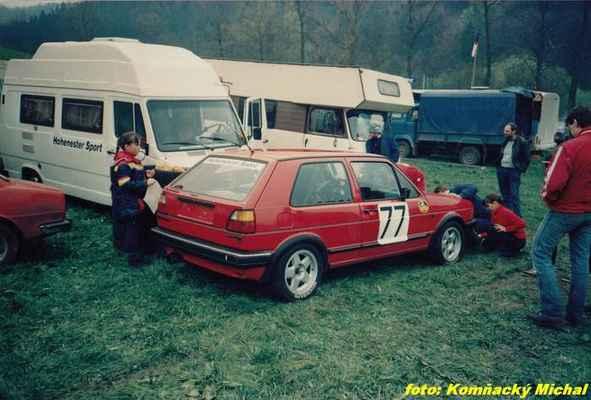 první start po návratu z emigrace (77) DONÁT Václav / Bzí-Železný Brod / VW Golf 16V