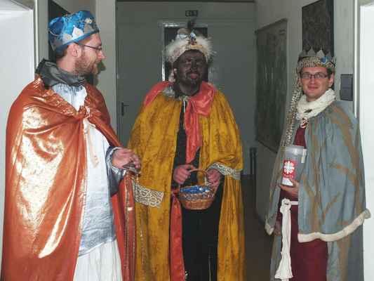 Tři králové na chodbě Městského úřadu Boskovice.