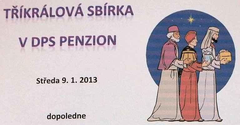 Informační list na nástěnce Penzionu Mánesova v Boskovicích.