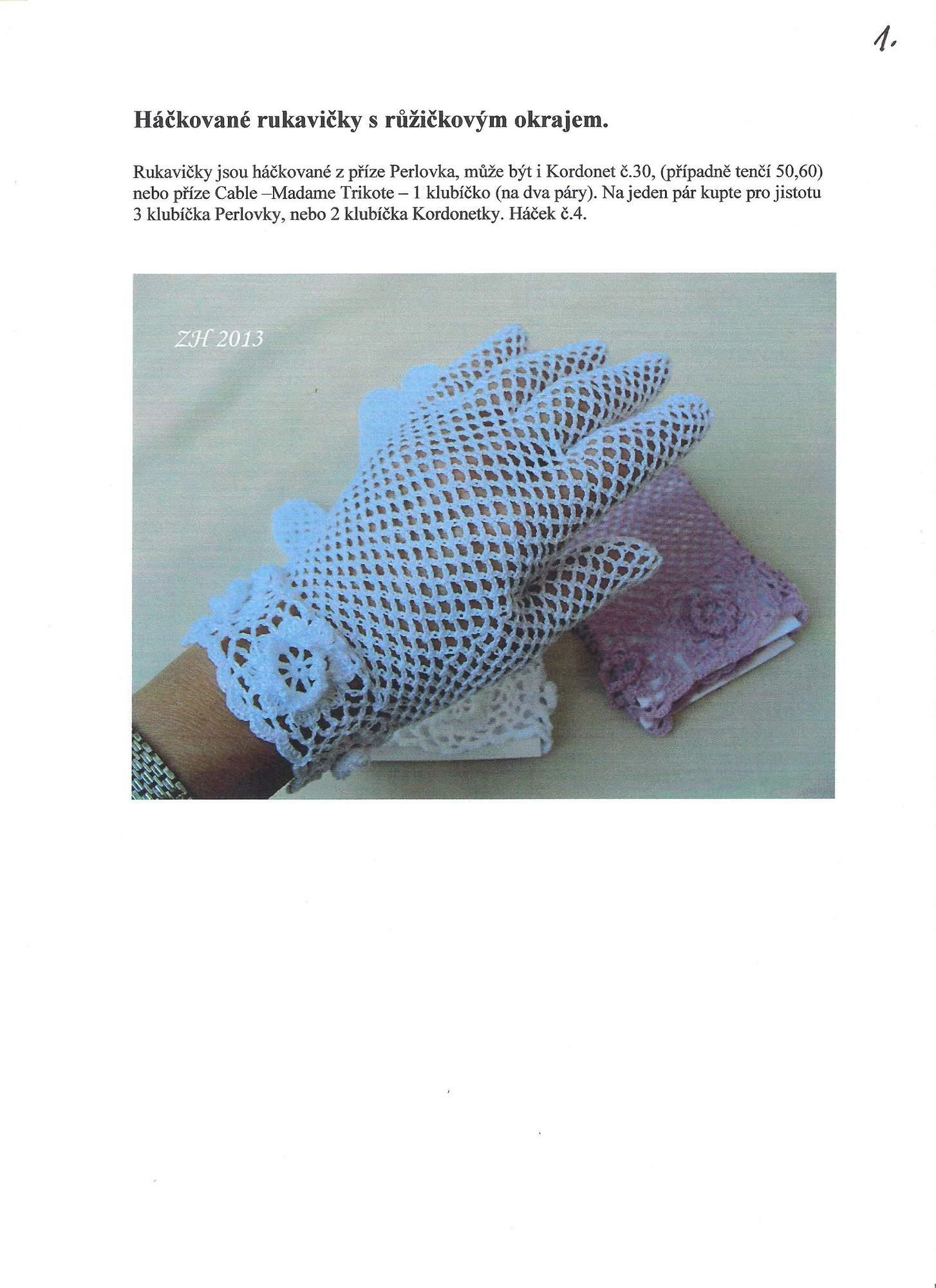 eb9eef1cc97 Háčkované krajkové rukavičky – hluzdionv – album na Rajčeti