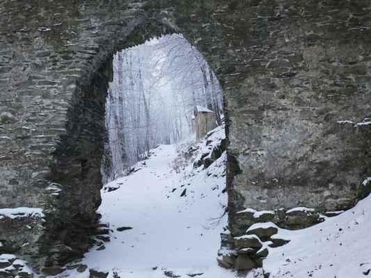 vstupuji do hradu...