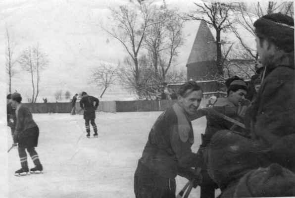 1955x -muži2 - v Příchovicích Vacek, Holeček a Duník