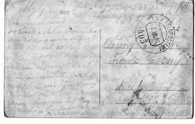 1916 - čumkarta na frontu - rok 1916 - čumkarta na frontu - 35.pěší plzeňský pluk bránil v té době  hrdinně předmostí u Tolminu na Soče při italských ofenzivách