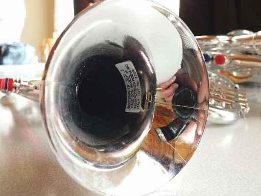Naleštěné hudební nástroje chlapců. Louis Daniel Armstrong (1901 – 1971) hrál na trumpetu při každém vystoupení. V roce 1965 koncertoval před vyprodanou Lucernou v Praze.