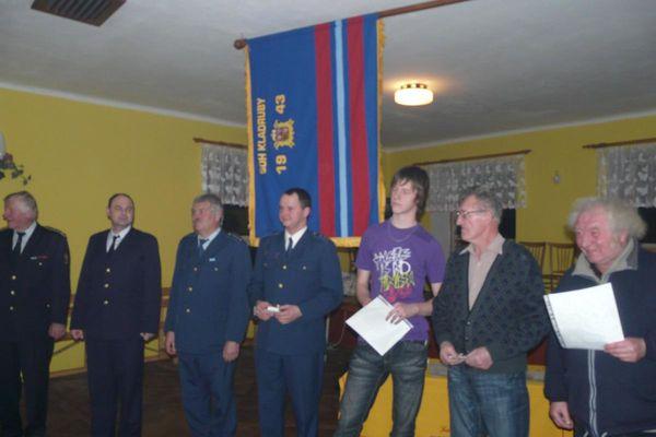 Hasičská schůze 2012