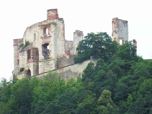 Zřícenina boskovického středověkého hradu z třináctého století ční nad sportovním areálem ve výšce 451 metrů.